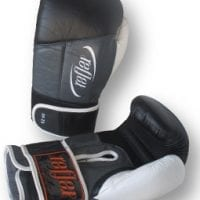 "< img alt = "" Deluxe leather boxing gloves with double velcro soft leather and soft foam low profile so can see excellent top of the line boxing combat glove """