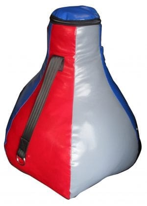 uppercut punching bag looks like an inverted mushroom kicks elbows hooks