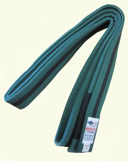 Junior BJJ belt Green black stripe and black sock