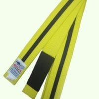 Junior BJJ belt Yellow with black stripe and black sock
