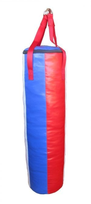 Red white and blue punching bag four foot